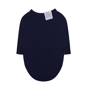Puppy Angel Daily Long Sleeve Dog T-shirts - Navy Blue