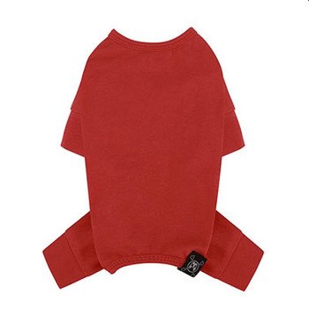 Puppy Angel Mac Daily Dog Coverall / Pajama - Red