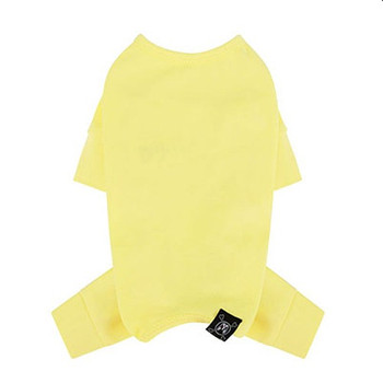 Puppy Angel Mac Daily Dog Coverall / Pajama - Pale Yellow
