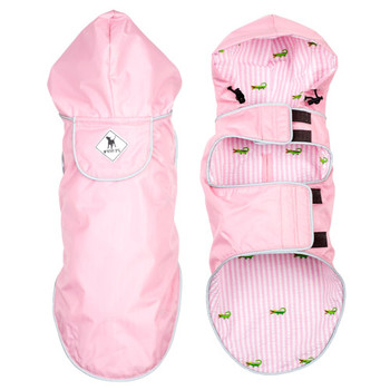 Pink/Alligator Slicker Dog Raincoat