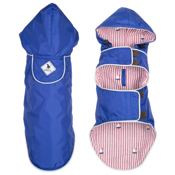 Blue/Sailboat Seattle Slicker Dog Raincoat