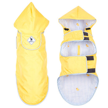 Yellow/Rubber Duck Slicker Dog Raincoat