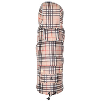 Tan Plaid London Dog Raincoat