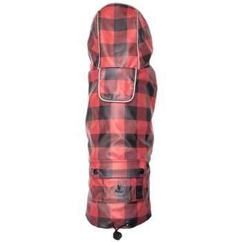 Red/Black Buffalo London Dog Raincoat