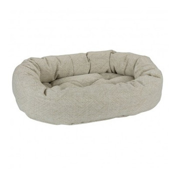Natura Micro Jacquard Donut Pet Dog Bed