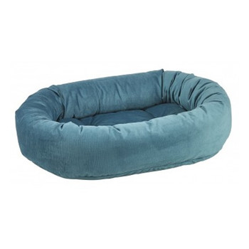 Teal Microvelvet Donut Pet Dog Bed