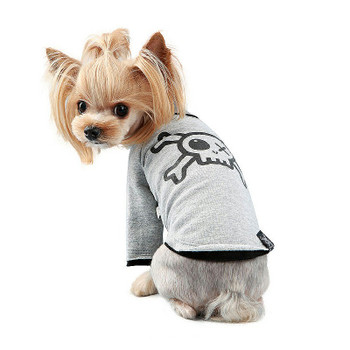 Puppy Angel Pirate Long Layered Sleeve Dog T-shirts - White