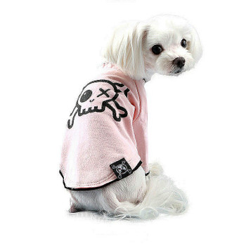 Puppy Angel Pirate Long Layered Sleeve Dog T-shirts - Pink