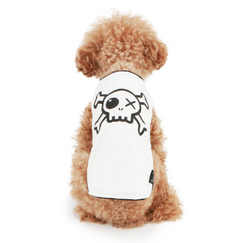 Puppy Angel Pirate Layered Sleeveless Dog T-shirts - White