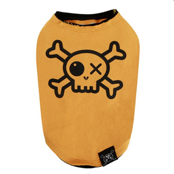 Puppy Angel Pirate Layered Sleeveless Dog T-shirts - Yellow