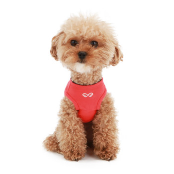 Puppy Angel Pirate Layered Sleeveless Dog T-shirts - Red