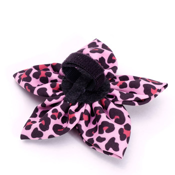 Leopard Pink Pet Dog Collar Flower