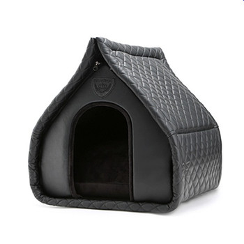 Puppy Angel Kisses House Dog Bed - Black