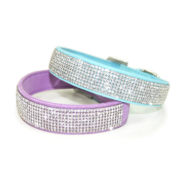 VIP Bling Pet Dog Collar - Blue or Purple