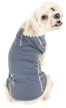 Racerbark 4-Way Stretch Performance Dog Tank Top T-Shirt - Gray
