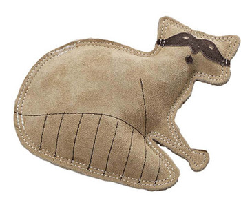 Dura-Fused Leather Raccoon Dog Toy