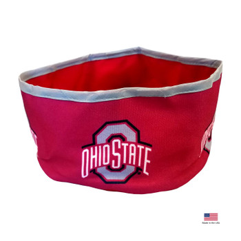 Ohio State Buckeyes Collapsible Pet Bowl