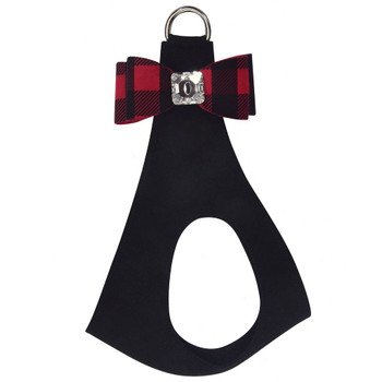 Red Gingham Big Bow Step In Harness - Custom