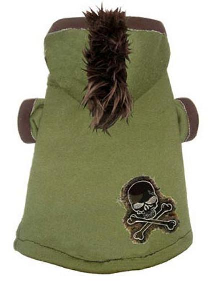 58b55a00f068 Camo Skull Mohawk Dog Hoodie | Hip Doggie at PupRwear | GW Little