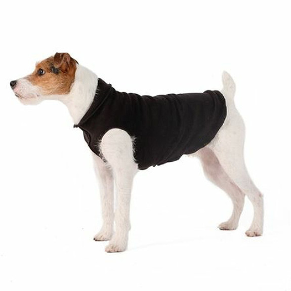 Black / Black Duluth Double Fleece Dog Wrap by Gold Paw Series