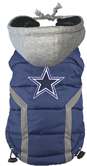 differently cea9e 5db53 NFL Dallas Cowboys Licensed Dog Puffer Vest Coat - S - 3X