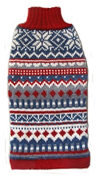 Alpaca Dog Sweater - Rombus Delight - XL Only