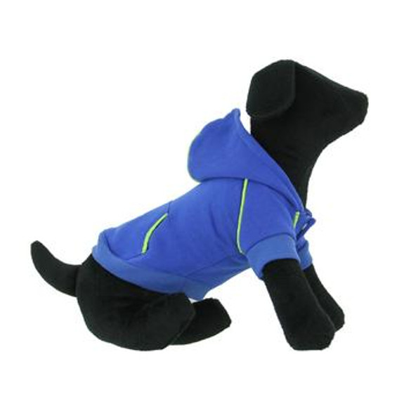 Sport Dog Hoodie - Nautical Blue - Tiny - Big Dog Sizes