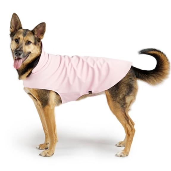 Gold Paw Stretch Fleece - Pale Pink