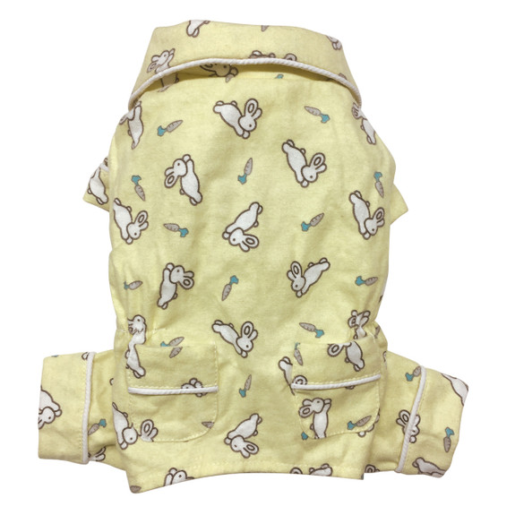 Hopping Bunny Flannel Pajamas with 2 Pockets