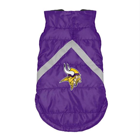 Minnesota Vikings Pet Puffer Vest - Teacup