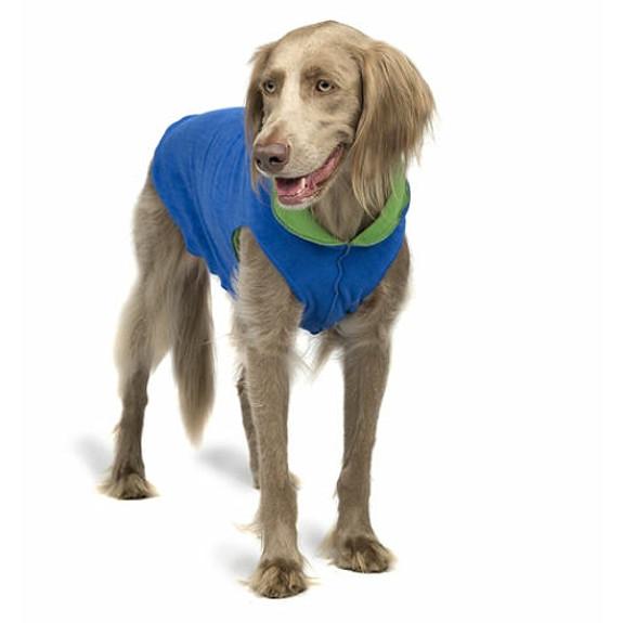 Cobalt Blue / Grass Duluth Double Fleece Dog Wrap