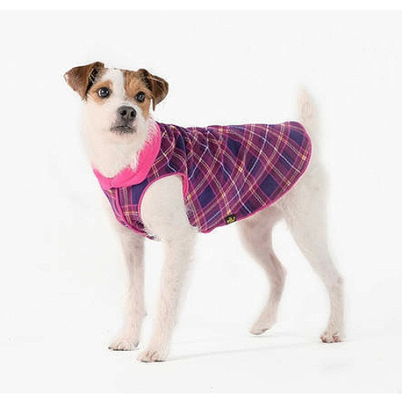 Mulberry Plaid / Fuchsia Duluth Double Fleece Dog Wrap