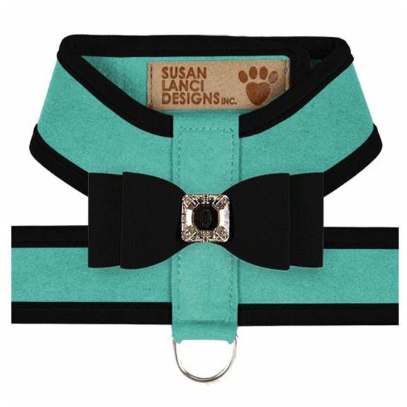 Big Bow Tinkie Harnesses -Binimi Blue / Black Trim & Bow