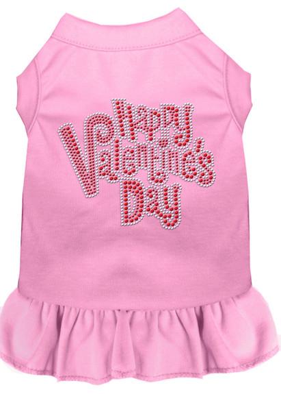 Happy Valentines Rhinestone Dog Dress - More Colors