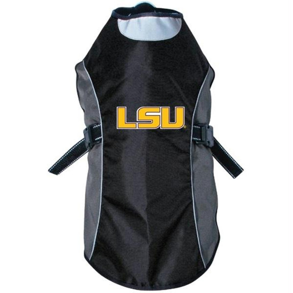 LSU Tigers Water Resistant Reflective Pet Jacket