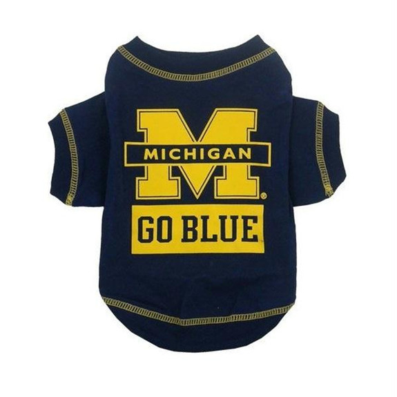 Michigan Wolverines Dog Tee Shirt - PFMI100-0004