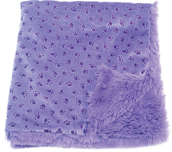 Violet Paw Prints on My Heart Blankie