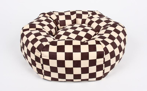 Windsor Check Round Dog Bed