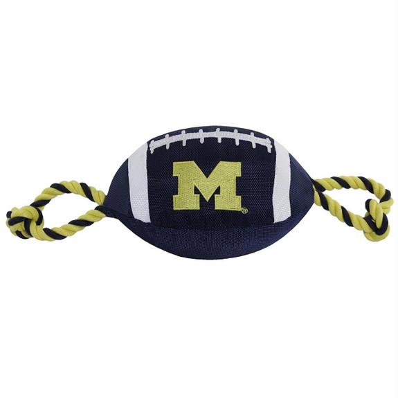 Michigan Wolverines Pet Nylon Football