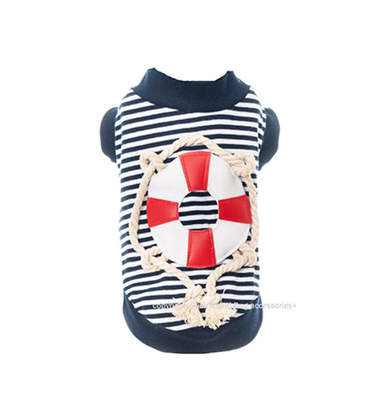 Designer Nautical Popeye Dog Tee