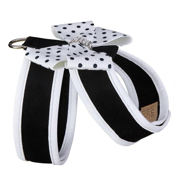 Polka Dot Nouveau Bow Tinkie Harness with Trim