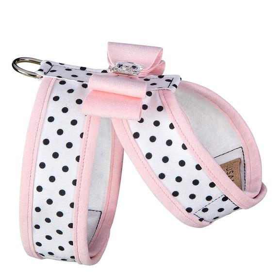 Polka Dot Big Bow Tinkie Harness with Trim