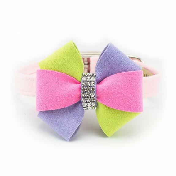 Madison Bow Dog Collar & optional Leash