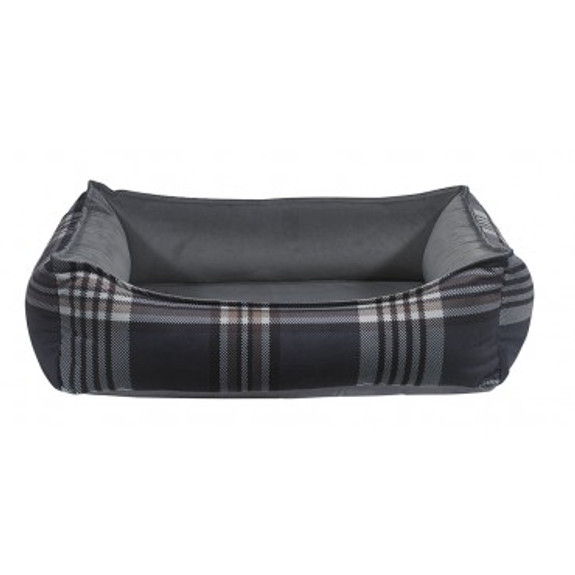 Greystone Tartan Microvelvet Oslo Ortho Pet Dog Bed