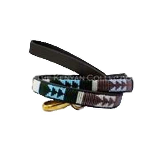 Jacaranda African Beaded Dog Leash