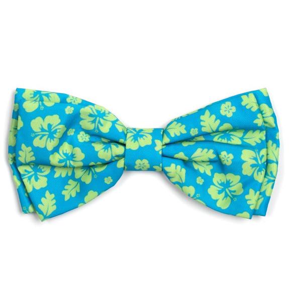 Aloha Turquoise Pet Dog Bow Tie