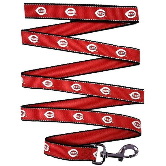 Cincinnati Reds Reflective Pet Leash - sp1-042-1