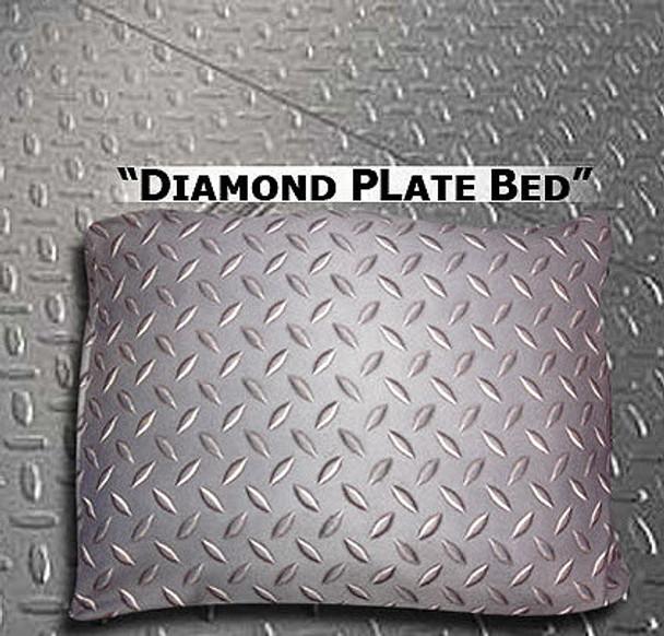 Dog Bed, Duvet or Throw - Diamond Plate Rectangle