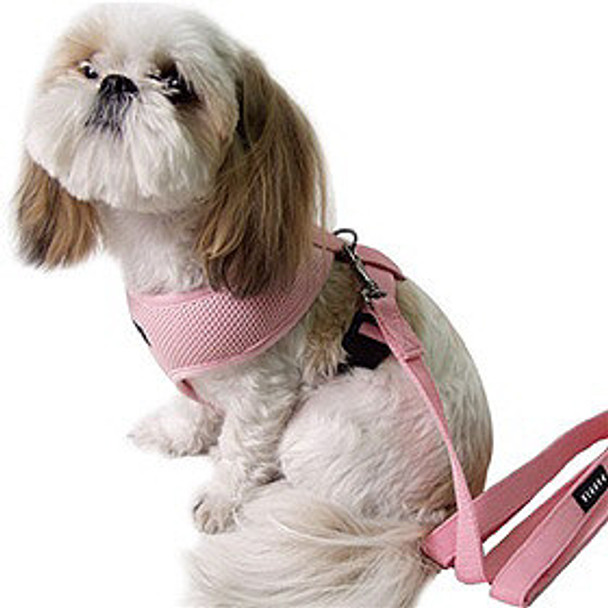 A Style Dog Harness - Soft Mesh - Pink Or Blue