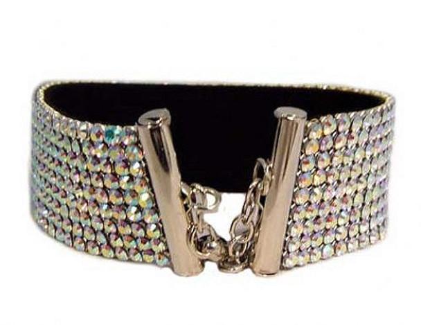 Swarovski Crystal Dog Necklace - Aurora Borealis